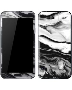 Black and White Marble Ink Galaxy S5 Skin