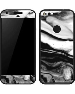 Black and White Marble Ink Google Pixel Skin