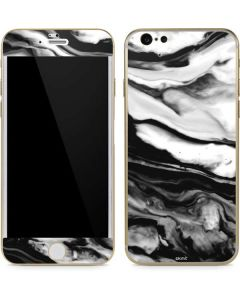 Black and White Marble Ink iPhone 6/6s Skin
