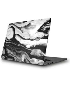 Black and White Marble Ink Apple MacBook Pro Skin