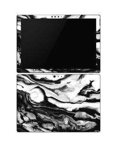 Black and White Marble Ink Surface Pro 6 Skin