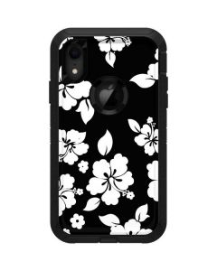 Black and White Otterbox Defender iPhone Skin