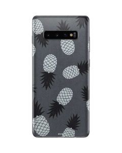 Black and White Pineapples Galaxy S10 Plus Skin