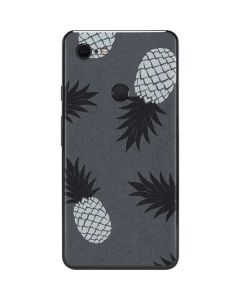 Black and White Pineapples Google Pixel 3 XL Skin