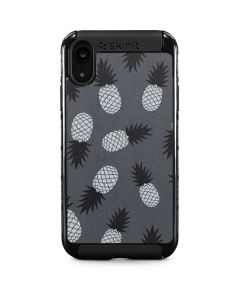 Black and White Pineapples iPhone XR Cargo Case
