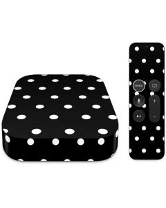 Black and White Polka Dots Apple TV Skin