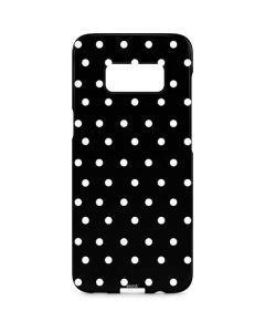 Black and White Polka Dots Galaxy S8 Plus Lite Case
