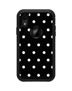 Black and White Polka Dots Otterbox Defender iPhone Skin