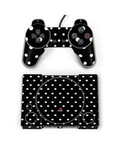 Black and White Polka Dots PlayStation Classic Bundle Skin
