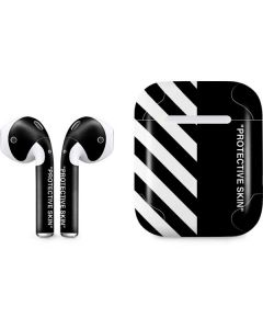 Black and White Stripes Apple AirPods Skin
