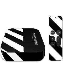 Black and White Stripes Apple TV Skin