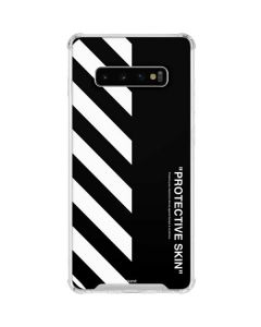 Black and White Stripes Galaxy S10 Plus Clear Case