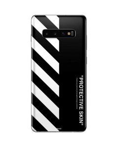 Black and White Stripes Galaxy S10 Plus Skin