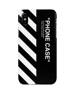 Black and White Stripes iPhone X Lite Case