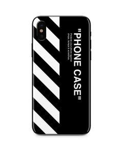 Black and White Stripes iPhone X Skin