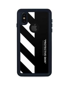 Black and White Stripes iPhone X Waterproof Case