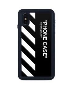 Black and White Stripes iPhone XS Max Waterproof Case