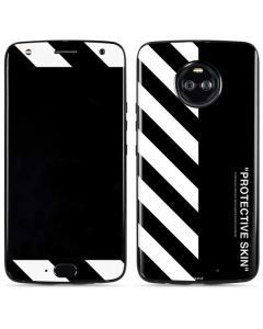 Black and White Stripes Moto X4 Skin