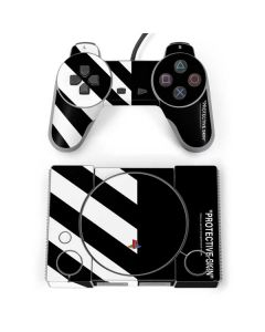 Black and White Stripes PlayStation Classic Bundle Skin