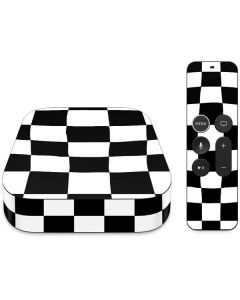 Black and White Zoomed Checkerboard Apple TV Skin