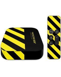 Black and Yellow Stripes Apple TV Skin