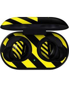 Black and Yellow Stripes Galaxy Buds Skin