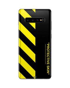 Black and Yellow Stripes Galaxy S10 Plus Skin