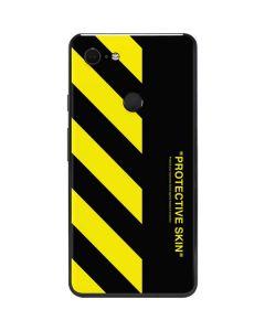 Black and Yellow Stripes Google Pixel 3 XL Skin
