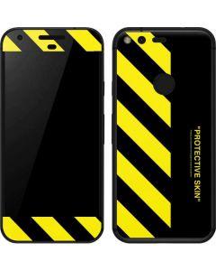 Black and Yellow Stripes Google Pixel Skin