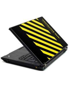 Black and Yellow Stripes Lenovo T420 Skin