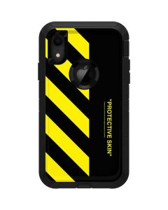 Black and Yellow Stripes Otterbox Defender iPhone Skin