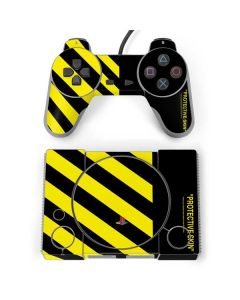Black and Yellow Stripes PlayStation Classic Bundle Skin