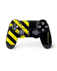 Black and Yellow Stripes PS4 Pro/Slim Controller Skin