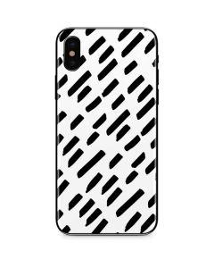 Black Dash iPhone XS Max Skin