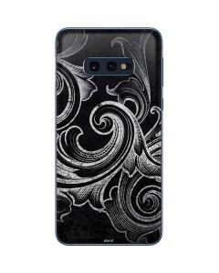 Black Flourish Galaxy S10e Skin
