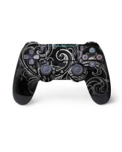 Black Flourish PS4 Pro/Slim Controller Skin