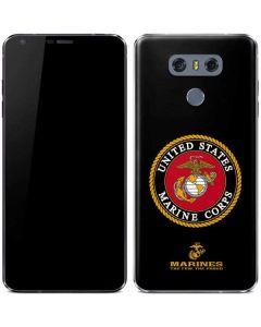 Black Full US Marine Corps LG G6 Skin