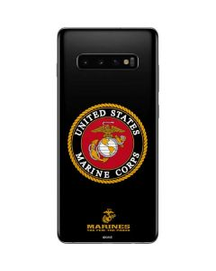 Black Full US Marine Corps Galaxy S10 Plus Skin