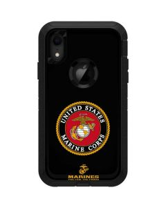 Black Full US Marine Corps Otterbox Defender iPhone Skin