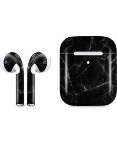 Black Marble Apple AirPods 2 Skin