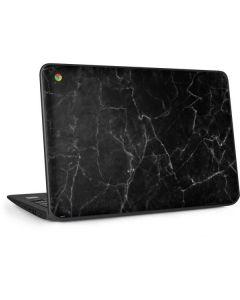 Black Marble HP Chromebook Skin