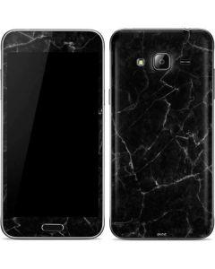 Black Marble Galaxy J3 Skin