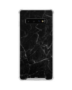 Black Marble Galaxy S10 Clear Case