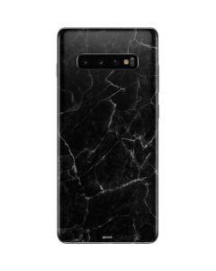 Black Marble Galaxy S10 Plus Skin