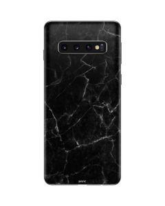Black Marble Galaxy S10 Skin