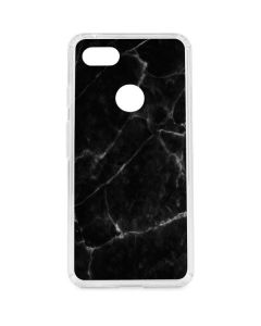 Black Marble Google Pixel 3 XL Clear Case