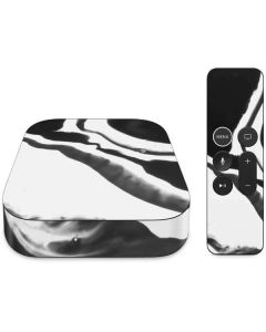 Black Marble Ink Apple TV Skin