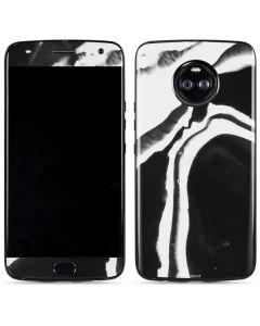 Black Marble Ink Moto X4 Skin