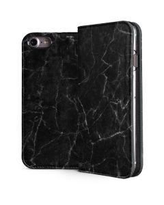 Black Marble iPhone 8 Folio Case