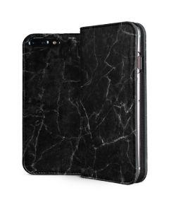 Black Marble iPhone 8 Plus Folio Case